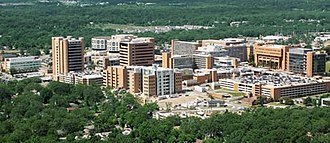 University of Arkansas for Medical Sciences - An aerial view of the UAMS main campus