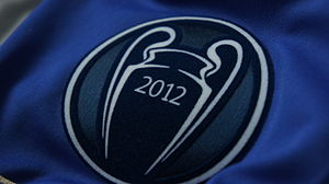 European Champion Clubs' Cup - The title-holder logo worn by Chelsea in the 2012–13 season; the same design has been used since.