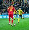 UEFA EURO qualifiers Sweden vs Romaina 20190323 Robin Quaison and Christian Sapunaru 16.jpg