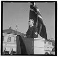 UI 198Fo30141702150067 Hirdmønstring i Halden. Fylkesfører i Østfold, Hoff, taler 1941-05-04 (NTBs krigsarkiv, Riksarkivet).jpg