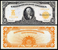 $10 Gold Certificate, Series 1907, Fr.1172, depicting Michael Hillegas