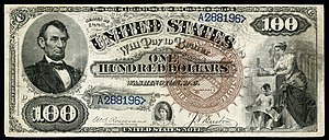 Emanuel Ninger - Series 1880 genuine $100 Legal Tender Note.