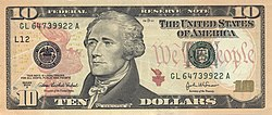 The almighty dollar--okay, the almighty ten-dollar--featuring Alexander Hamilton, originator of the U.S. banking system