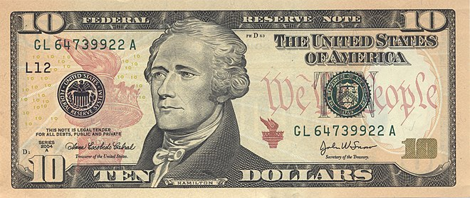 Alexander Hamilton on the Series 2004A U.S. $10 bill US10dollarbill-Series 2004A.jpg