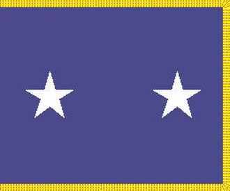 Hugh T. Broomall - Rank flag of a major general in the United States Air Force