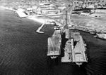 USS Antietam (CVS-36) and USS Leyte (CVS-32) at NAS Quonset Point c1954.jpg