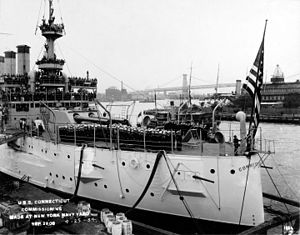 USS Connecticut (BB-18) - Commissioning ceremonies for Connecticut, 29 September 1906