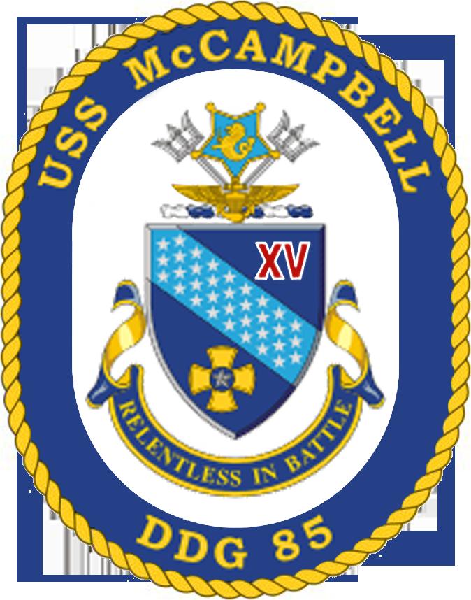 USS McCampbell DDG-85 Crest