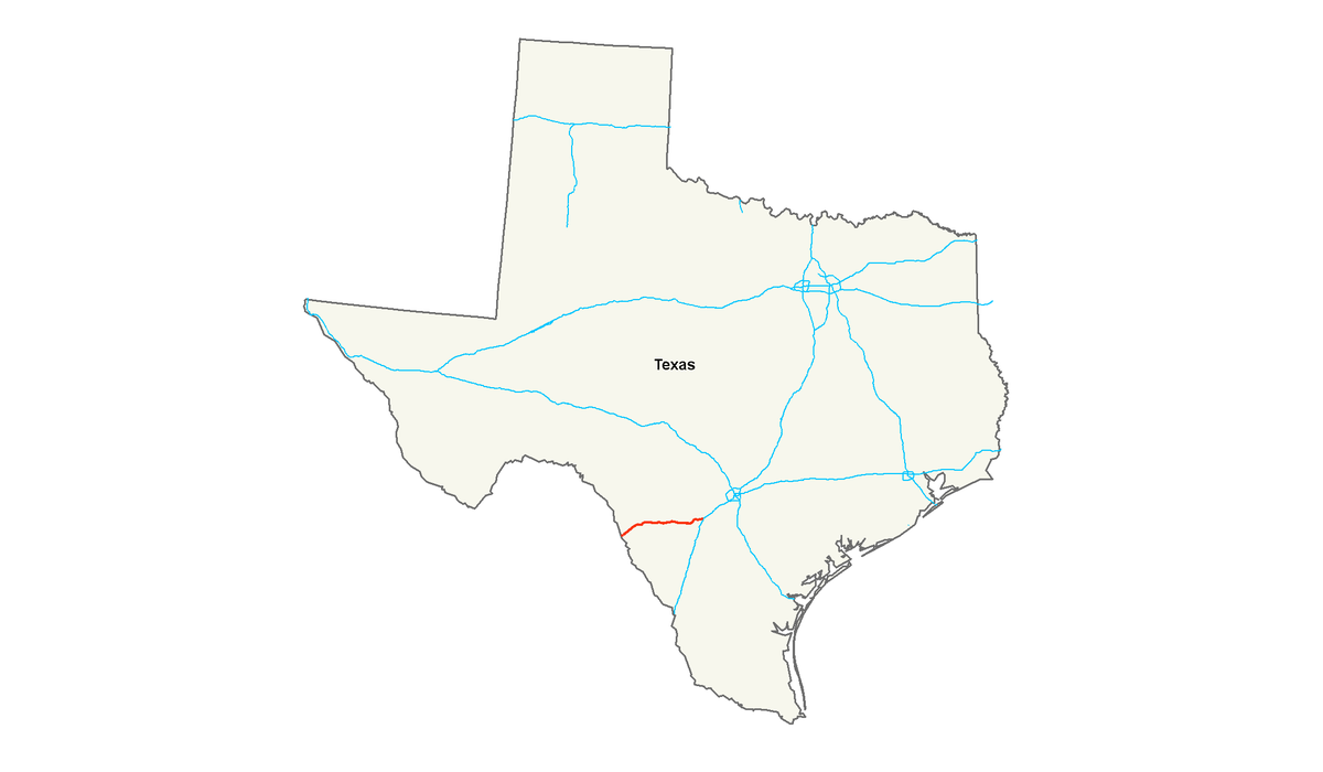 US Route Wikipedia - Us checkpoints map