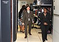 US Army 51969 Dr. Jonn Kim, president and CEO of GaN Corporation, and Dr. Claudette Owens, chief, Information and Computational Engineering Division, USASMDC-ARSTRAT, tour the Simulation Center. Alabama-based GaN C.jpg
