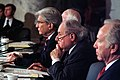US Navy 040210-N-2383B-063 Senator and Chairman of the Senate Armed Services Committee John Warner listens alongside Senators Carl Levin.jpg