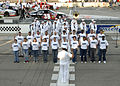 US Navy 040626-N-5576W-003 Vice Commander, Space and Naval Warfare Systems Command, Rear Adm. Michael A. Sharp, administers the oath of enlistment.jpg