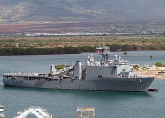 USS Rushmore (LSD-47) - The USS Rushmore at NS Pearl Harbor during RIMPAC (2004).