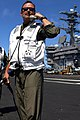 US Navy 090810-N-2600H-014 Capt. Michael C. Manazir, commanding officer of the aircraft carrier USS Nimitz (CVN 68) mans the landing signal officer position to observe the approach of Capt. Bret Batchelder.jpg