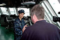 US Navy 091130-N-4345B-173 Cmdr. Kris Doyle speaks with WVEC 13 News military reporter Mike Gooding.jpg