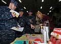 US Navy 101116-N-1947A-005 Sailors speak with Monique Beauchamp, a public health educator from Naval Medical Center San Diego.jpg