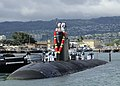 US Navy 110622-N-UK333-034 USS Pasadena (SSN 752) returns to Joint Base Pearl Harbor-Hickam after a scheduled deployment to the western Pacific Oce.jpg