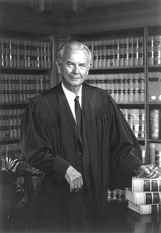 "Justice William J. Brennan, Jr. wrote the landmark decision New York Times Co. v. Sullivan, requiring the demonstration of ""actual malice"" in libel suits against public figures. US Supreme Court Justice William Brennan - 1976 official portrait.jpg"