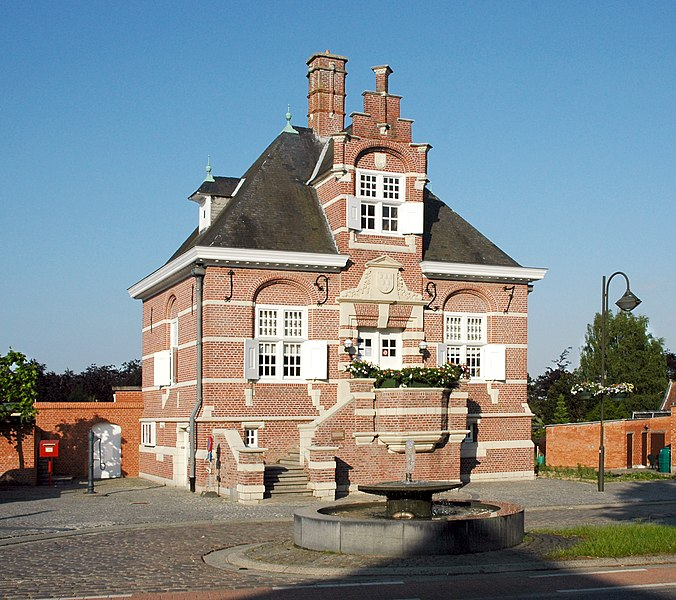 Former town hall of Uitbergen, in the municipality Berlare, Belgium.