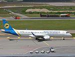 Ukraine International Airlines Embraer 190 UR-EMB at HEL 05JUN2015 (2).JPG