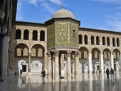 Image of Damascus treasury in Umayyad Mosque, Damascus.
