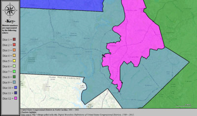 United States Congressional Districts in North Carolina (metro highlight), 2001 – 2002.tif