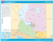 A map of congressional districts of Arizona, from 2002-2013
