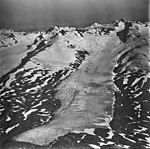 Unnamed glacier on Crown Peak, terminus of mountain glacier, firn line, and bergschrund, September 3, 1977 (GLACIERS 6466).jpg