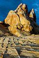 Unusual rocks striations near the White Domes (8286977514).jpg