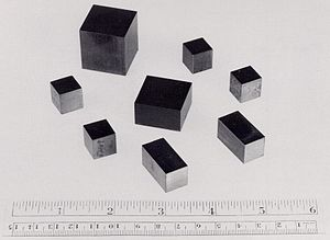 Uranium - Cubes and cuboids of uranium produced during the Manhattan project