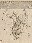 An engraving of Orion