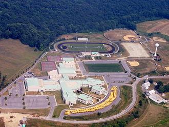 Urbana, Maryland - An aerial view of Urbana High School