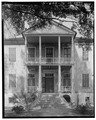 VIEW OF FRONT PORTICO. NOTE STAIRWAY - Elizabeth Barnwell Gough House, 705 Washington Street, Beaufort, Beaufort County, SC HABS SC,7-BEAUF,34-5.tif