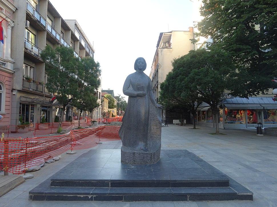 Valjevo, Spomenik Desanki Maksimović, 04