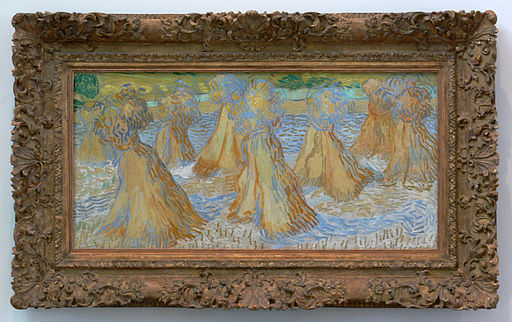 Van Gogh Sheaves of Wheat with frame DMA 1985-R-80