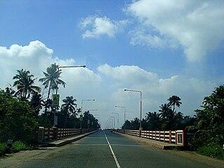 Varappuzha Suburb in Ernakulam, Kerala, India