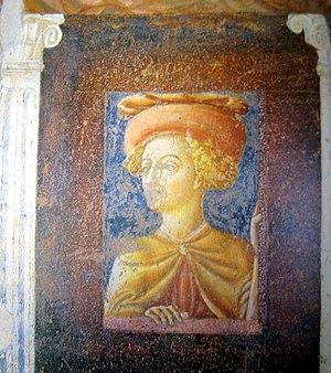 Vecchietta - Self-portrait. Detail of a fresco in Collegata di Castiglione Olona