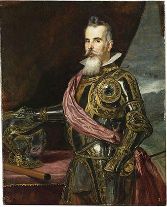 Benavente, Zamora - Juan Francisco Pimentel y Ponce de León, 7th Duke of Benavente, deceased 1652, by Diego Velázquez, 1648.