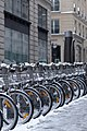 Velib station rue Therese under the snow 2013-01-20 n01.jpg