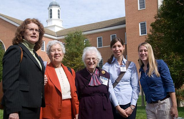 Vera Rubin second from left