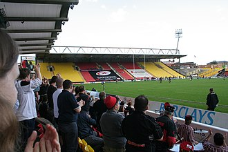 Vicarage Road - Rugby game at Vicarage Road, 2005