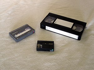 Videotape - Video 8, VHS and MiniDV.