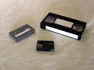 Videotape - Video 8, VHS and MiniDV.