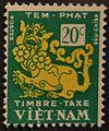 Vietnam timbre taxe 1952 20c vert jaune.JPG