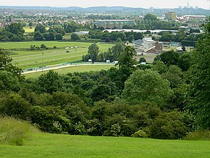 Nottingham Racecourse - View of the racecourse from Colwick Woods Park