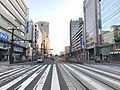 View from platform of Hondori Station (Hiroshima Electric Railway).jpg