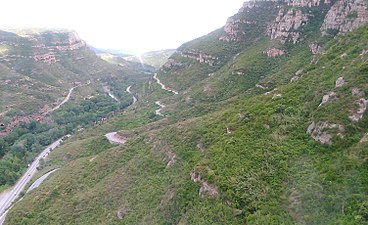 View of Montserrat from cable car.jpg