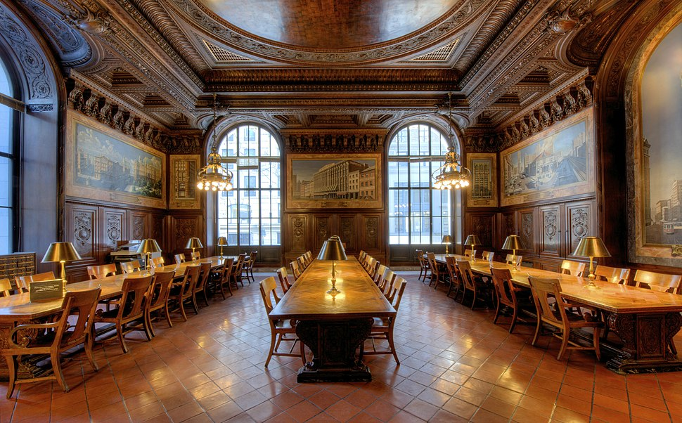 View of N.Y. Public Library - Wallace Periodical Room