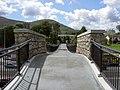 View of the footbridge at Kilmacanoge - geograph.org.uk - 523699.jpg