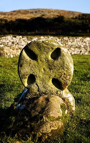 Ketill Flatnose - Viking-age headstone, St Blane's Chapel, near Kingarth